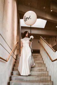 Brautkleid clean puristisch chic Isi Lieb