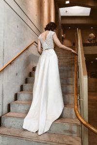 Brautkleid mit Schleppe Spitze Zweiteiler Isi Lieb
