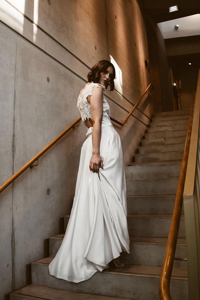 Brautkleid mit Taschen und Spitze Isi Lieb (2)