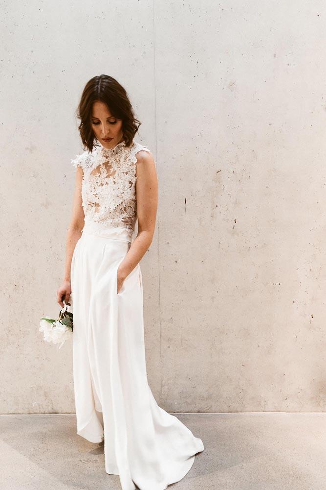 Brautkleid mit Taschen und Spitze Isi Lieb