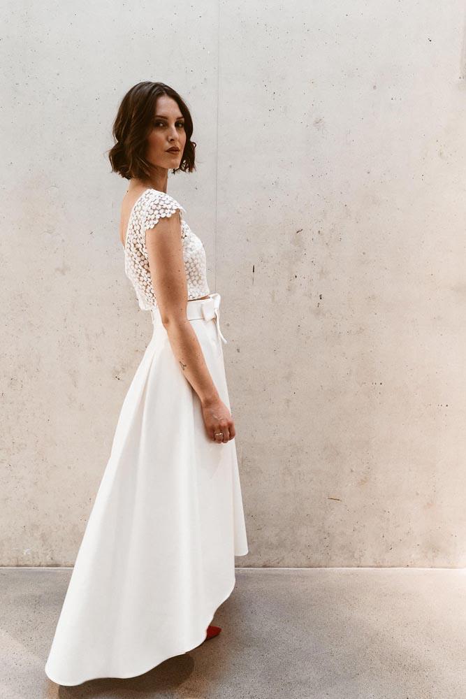 Zweiteiler Brautkleid Standesamtkleid Isi lieb 045
